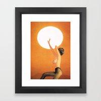 Girl In The Sun... (One … Framed Art Print