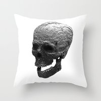 IRON SKULL Throw Pillow
