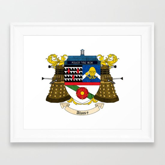Doctor Who Coat of Arms Framed Art Print