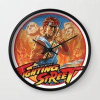 Fighting Street Wall Clock