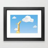 Into The Cloud Framed Art Print