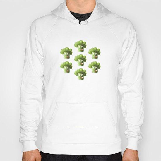 Green Funny Cartoon Broccoli  Hoody