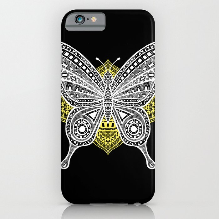 The Butterfly Watercolor Illustration on iPhone Skin by Haidi Shabrina