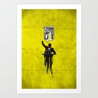 Political Speech! Art Print