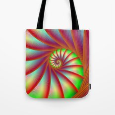 Staircase Spiral in Orange Blue and Green Tote Bag