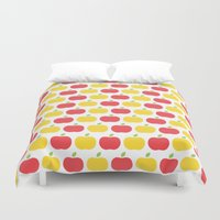 The Essential Patterns of Childhood - Apple Duvet Cover