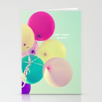 Don't worry, be happy Stationery Cards