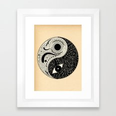 - yin & yang - [collaborative art with famenxt] Framed Art Print