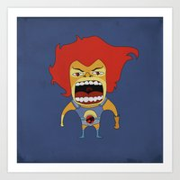 Art Print featuring Screaming Lion-O by That Design Bastard