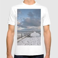 Saltburn Pier Mens Fitted Tee White SMALL