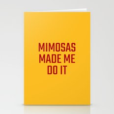 Mimosas Made Me Do It (Yellow & Crimson) Stationery Cards