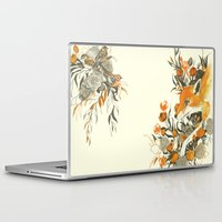 japanese Laptop & iPad Skins featuring fox in foliage by Teagan White