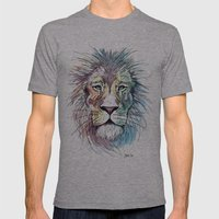 Technicolor Cat Mens Fitted Tee Athletic Grey SMALL