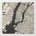 New York - Ink lines Canvas Print