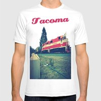Tacoma Rail Mens Fitted Tee White SMALL