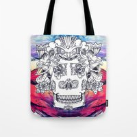 Sugar Skull Splash Tote Bag