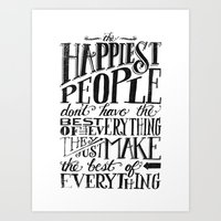 THE HAPPIEST PEOPLE... (… Art Print
