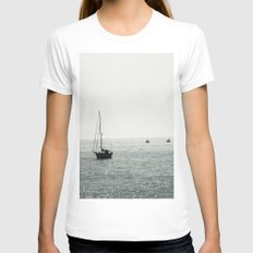 Out At Sea Womens Fitted Tee White SMALL