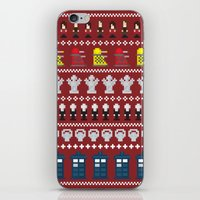 Doctor Who - Time of The Doctor - 8 bit Christmas Special iPhone & iPod Skin