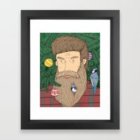 Christmas man Framed Art Print