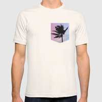 Single Palm Mens Fitted Tee Natural SMALL