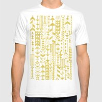 Golden Doodle Arrows Mens Fitted Tee White SMALL