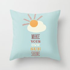 Make Your Own Sunshine Throw Pillow