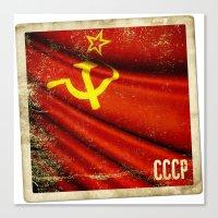 Sticker Of Soviet Union … Canvas Print