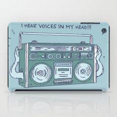 I hear voices in my head iPad Case