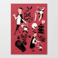 Dracula And Son Canvas Print