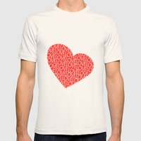 Heart Full Of Love Mens Fitted Tee Natural SMALL