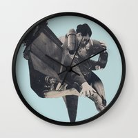 The Rushing Fog Wall Clock
