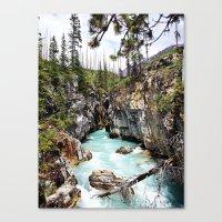 Marble Falls Alberta Can… Canvas Print