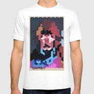 Geometric Gambit Mens Fitted Tee White SMALL