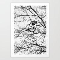 Art Print featuring Owl by Gnarleston