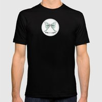 Actias luna Mens Fitted Tee Black SMALL