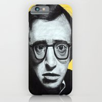iPhone & iPod Case featuring Woody Allen by Black Neon
