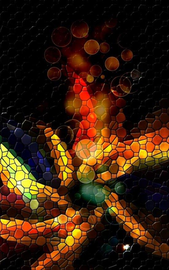 Mosaike 5 by Nico Bielow Art Print