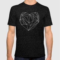 Heart Graphic Mens Fitted Tee Tri-Black SMALL