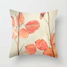 Simply Leaves Throw Pillow