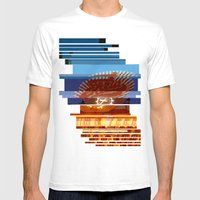 Freia Glitch Mens Fitted Tee White SMALL