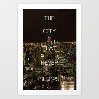 New York, New York. Art Print