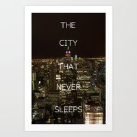 New York, New York. Art Print