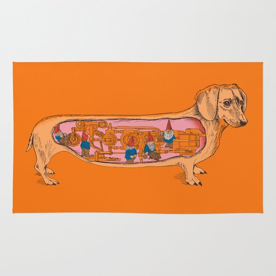 Secrets of the Dachshund  Area & Throw Rug