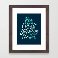 Cry in the Pool Framed Art Print