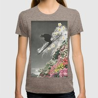 Spring Skiing Womens Fitted Tee Tri-Coffee SMALL