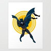 The Bat Dude Art Print