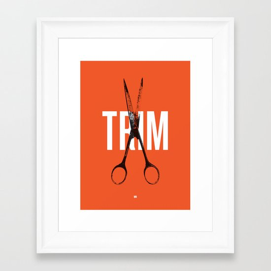 Barbershop Design Ethos / Trim Framed Art Print