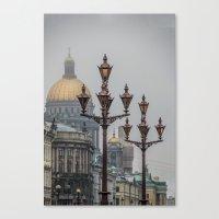 Street Lights Of Saint P… Canvas Print