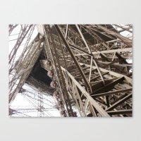 Eiffel Tower Ironwork Canvas Print